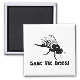 Save the Bees 2 Inch Square Magnet