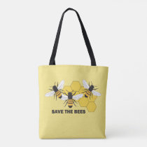 Save the Bees AOP Tote