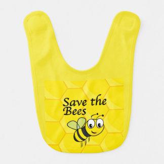 Save the Bees Baby Bib