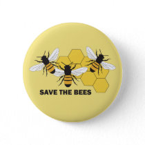Save the Bees Beekeeper Button