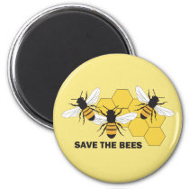 Save the Bees Beekeeper Magnet