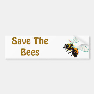 Save The Bees Car Bumper Sticker