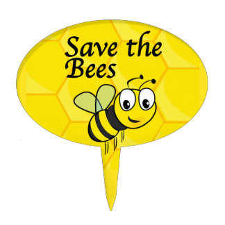 Save the Bees Cake Topper