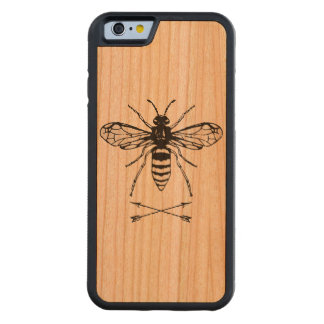 Save the bees carved cherry iPhone 6 bumper case