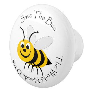Save The Bees Ceramic Knob