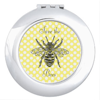 Save the Bees Compact Mirror