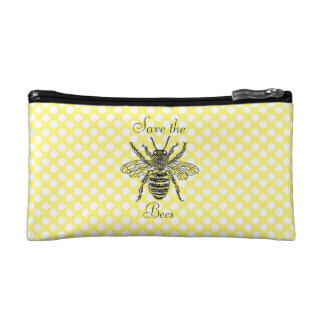 Save the Bees Cosmetic Bag