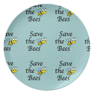 Save the Bees Dinner Plate