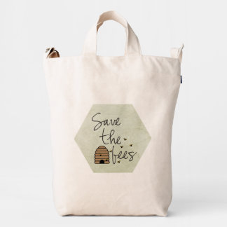 Save the Bees Duck Bag