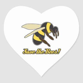 Save The Bees! Heart Sticker