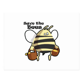 Save the Bees - Honey Bee Postcard