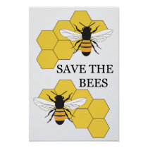 Save the Bees Inspirational Poster