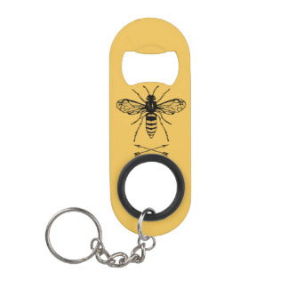 Save the bees keychain bottle opener