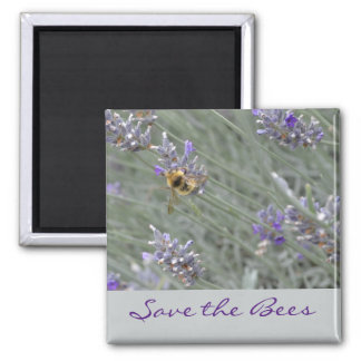 Save the Bees... Lavender Magnet