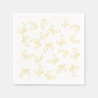 Save the Bees Leaves Paper Napkins