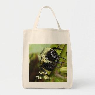 Save The Bees Macro Photo Organic Shopping Bag