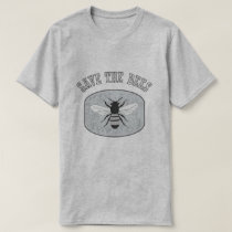 Save the Bees Mens Grey T-shirt