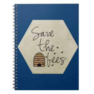 Save the Bees Spiral Notebooks