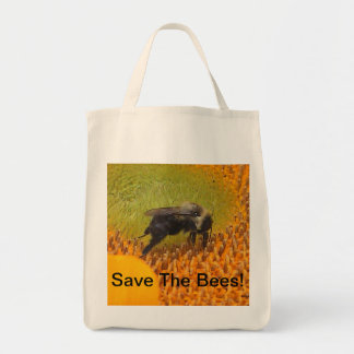 Save The Bees Organic Grocery Tote Bag