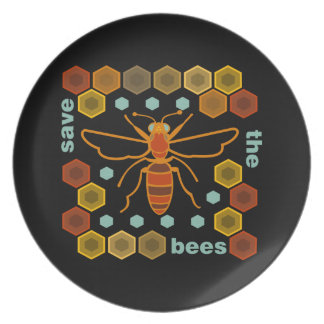 Save the Bees Party Plate