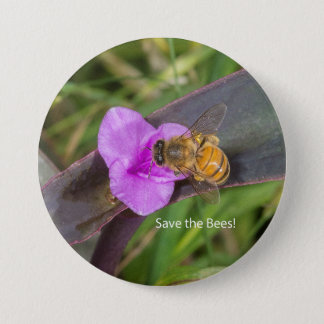 Save the Bees! Pinback Button