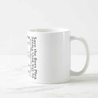 Save the Bees Please Collage Coffee Cup Mug
