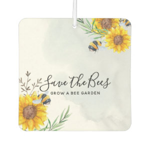 Save The Bees - Quotes, Slogans Sayings Sunflowers Air Freshener