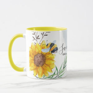 Save The Bees - Quotes, Slogans Sayings Sunflowers Mug