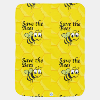 Save the Bees Receiving Blanket