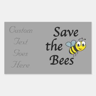 Save the Bees Rectangular Sticker