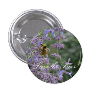 Save the Bees... Russian Sage Button