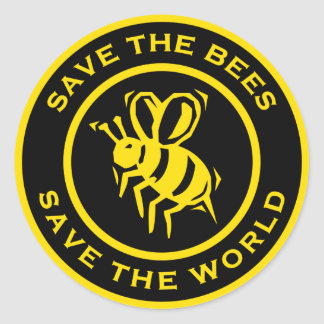 Save The Bees Save The World Classic Round Sticker