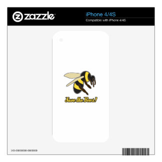 Save The Bees! Decal For The iPhone 4S
