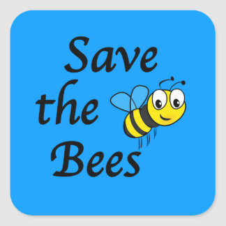 Save the Bees Square Sticker