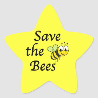 Save the Bees Star Sticker