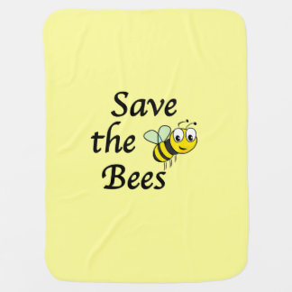 Save the Bees Stroller Blanket