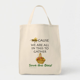 Save The Bees Together Grocery Bag
