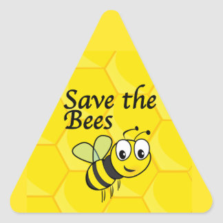 Save the Bees Triangle Sticker
