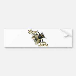 Save the Bees vintage illustration Bumper Sticker