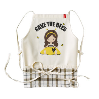 Save the Bees Zazzle HEART Apron