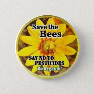Save The BeesGo Organic Pinback Button