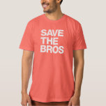 Save the Bros Organic Men's T - Pomegranate Tshirt