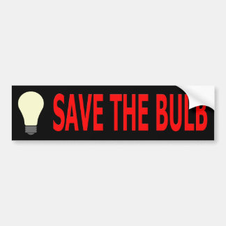 Save The Bulb Bumper Sticker