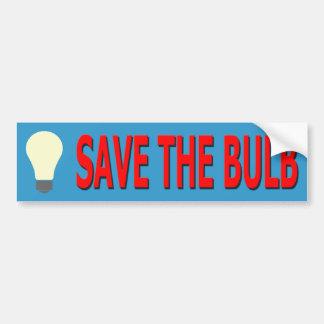 Save the Bulb Bumper Sticker (blue)