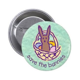 Save the bunnies Button
