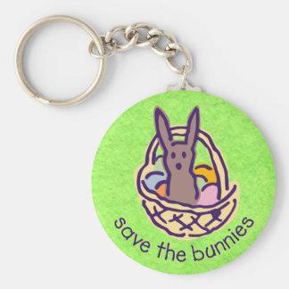 Save the Bunnies Keychain