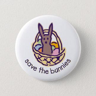 Save the Bunnies Pinback Button