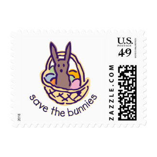 save the bunnies Postage