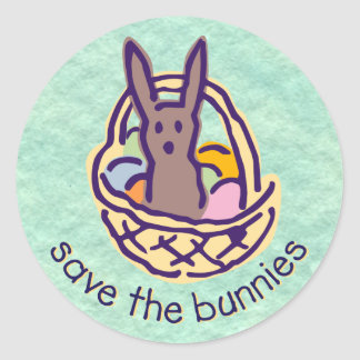 Save the Bunnies Stickers