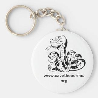 Save the Burms keychain